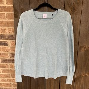 Cabi Blue Sky Knit Crewneck Swing Sweater Medium
